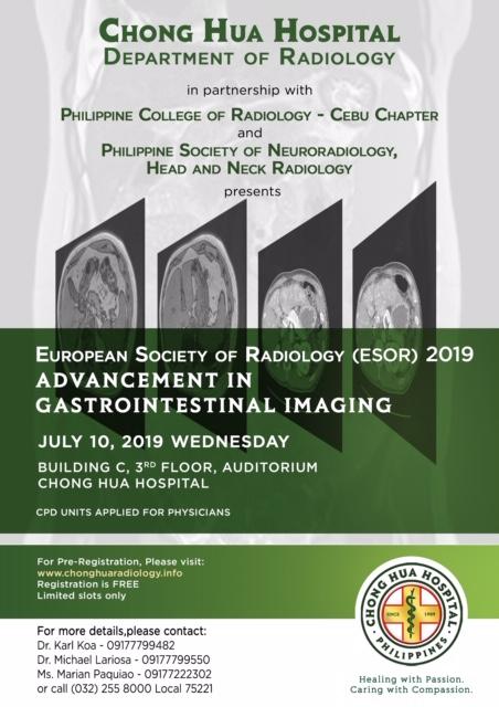 ESOR 2019 Advancement in Gastrointestinal Imaging