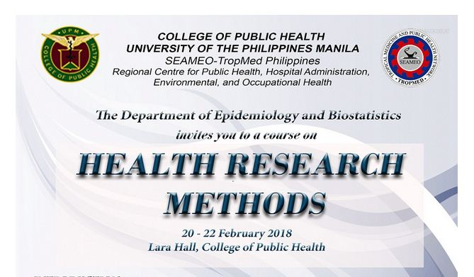 DEBs Short Courses 2018 – Health Research Methods